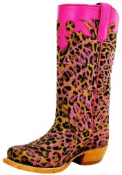 Anderson Bean Western Boots Girls Leopard Lucky Girly Brown Pink K7070