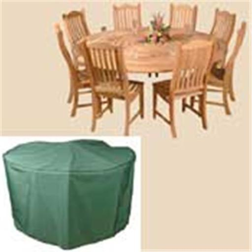 Round Patio Set Cover - Green