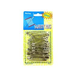 Bulk Buys HM012-72 Silver Jumbo Safety Pins - Pack of 72