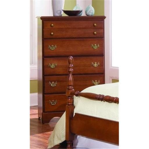 Common Sense Five Drawer Chest Dressers Furniture In Traditional Cherry