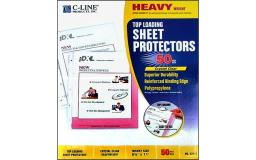 62013 c-line sheet protector 8 5x11 top load hvy weight