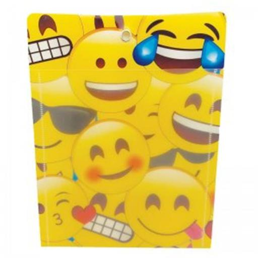 Ashley Productions ASH90252 10 x 13 in. Pocket Emojis W Grommett Hole Poly Clear Front - Pack of 12 64BAUMTHSXBD8YMK