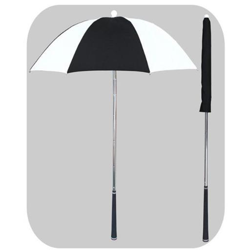 RainStoppers W058BLW Black & White Golf Bag Deflector Umbrella with Golf Grip Handle, 3 Piece