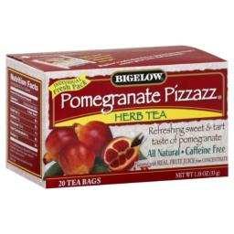 BIGELOW TEA HERB PMGRNT PIZZAZ-20 BG -Pack of 6
