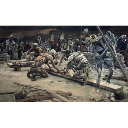 Posterazzi SAL9999293 Nailing the Feet James Tissot 1836-1902 French Poster Print - 18 x 24 in.