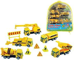 WowToyz Backpack Playset - Construction Vehicles