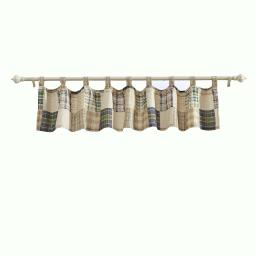 Plaid Square and Striped Pattern Window Valance, Set of 4, Multicolor - BM223412