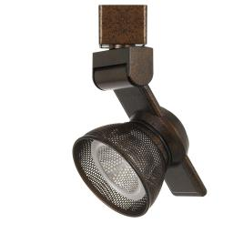 12W Integrated LED Metal Track Fixture with Mesh Head, Bronze