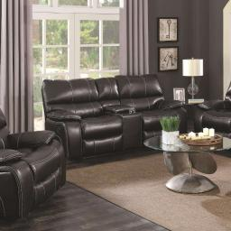Motion Loveseat With Storage Console, Black