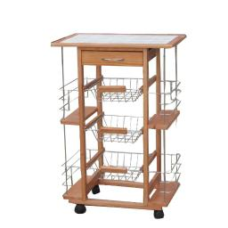 Contemporary Ceramic Kitchen Cart Trolley by Urban Port