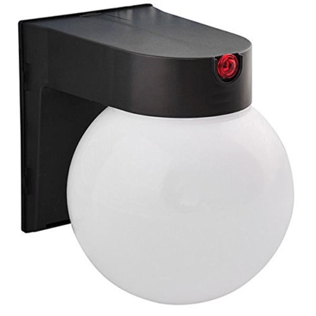 12 Watt LED Globe Fixture with Photocell Sensor 4000K Cool White 120V Amax Lighting LED-SLR12BZ