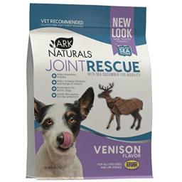 Ark Naturals Sea Mobility Joint Rescue Chews, Venison, Increase Flexibility, Mobility and Joint Comfort, Vet Recommended for All Dog Breeds, 500 mg Glucosamine, 9 oz. Bag