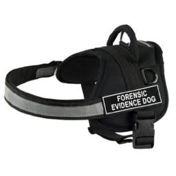 Dean & Tyler 34-Inch to 47-Inch Pet Harness, Large, Forensic Evidence Dog, Black
