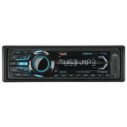BOSS Audio MR1308UABK Single Din, Bluetooth, MP3/WMA/USB/SD AM/FM Weather-Proof Marine Stereo, (No CD/DVD), Detachable Front Panel, Wireless Remote