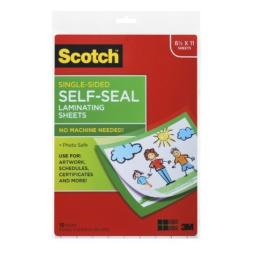 Scotch® Laminating Sheets LS854SS-10, 9 Inches x 12 Inches, Letter Size, Single Sided(2Pack )