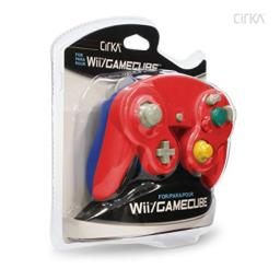 Cirka Wired Controller for Wii/ GameCube (Red/ Blue) - GameCube