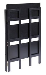 Winsome Wood Stackable/Folding 3-Tier Shelf, Black