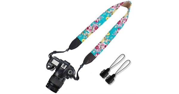 Elvam Universal Men and Women Camera Strap Belt Compatible for All DSLR Camera SLR Camera Instant Camera and Digital Camera - Green Flower Floral Elvam Universal Men and Women Camera Strap Belt Compatible for All DSLR Camera SLR Camera Instant Camera and Digital Camera - Green Flower Floral