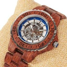 Men's Genuine Automatic Kosso Wooden Watches No Battery Ne
