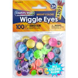 Creativity Street Peel & Stick Wiggle Eyes Assorted Sizes, 125-Piece (343801)