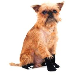 Fashion Pet Lookin Good Solid Slipper Socks for Dogs, Large, Black