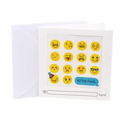 Hallmark Studio Ink Birthday Card (Emoji Stickers)