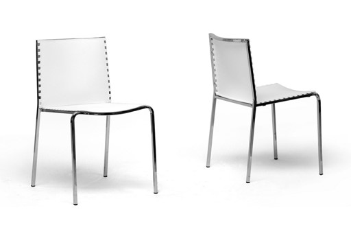 Baxton Studio Gridley White Plastic Modern Dining Chair