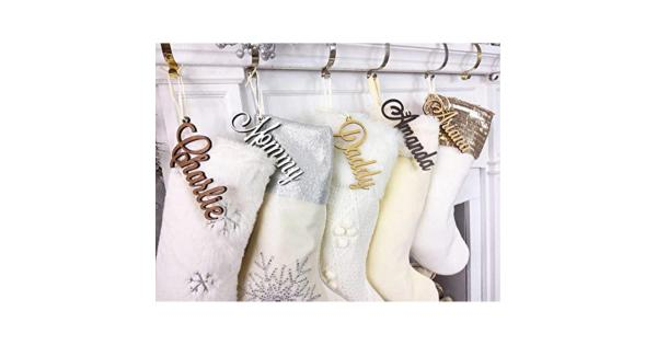Christmas Stocking Name Tags Personalized Stocking Wood Letters Custom Gold White Name Tags Christmas Rustic Country Farmhouse Cutout Modern Christmas Stocking Name Tags Personalized Stocking Wood Letters Custom Gold White Name Tags Christmas Rustic Country Farmhouse Cutout Modern