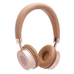 Contixo KB-200 Gold Premium Kids Headphones with Volume Limit Controls (Max 85dB), Bluetooth Wireless, Over-The-Ear with Microphone, Comfortable Cushioning, Gold