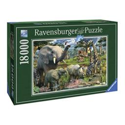 Ravensburger at The Waterhole - 18000 Piece Jigsaw Puzzle for Adults - Softclick Technology Means Pieces Fit Together Perfectly