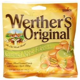 Werthers Original Caramel Apple Filled Hard Candies PACK of 3