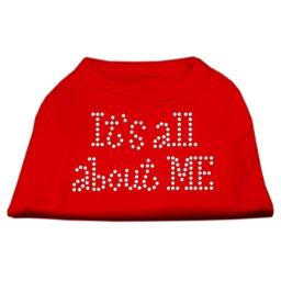 It's All About Me Rhinestone Shirts Red XS (8)