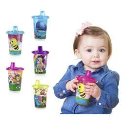 Nuby 5 Piece Printed Cup with Spout Free Flow Wash or Toss, Assorted