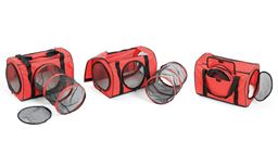 Large Cat Carrier Bag with Cat Tunnel – Red Pet Carrier for Cats – Big Cat Carrier – Soft Cat Carriers for Cats …