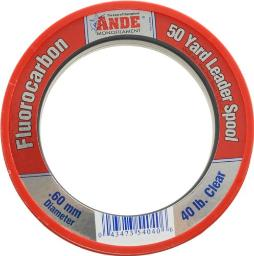 Ande FCW50-40 Clear Fluorocarbon Leader, 50-Yard, 40-Pound