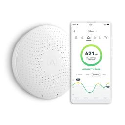 Airthings Wave Plus Smart Indoor Air Quality Monitor With Radon Detection