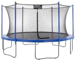 "Upper Bounce® 16 FT. Trampoline & Enclosure Set equipped with the New ""EASY ASSEMBLE FEATURE"""