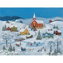 LANG Snowy Evening by Mary Singleton Jigsaw Puzzle (500-Piece)