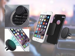 Universal Rotating & Swiveling Magnetic Car Mount for Smartphones