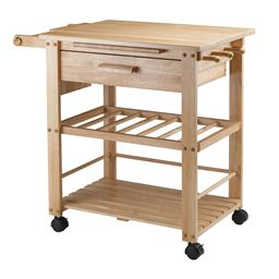 Winsome Finland Solid Wood Kitchen Cart - Natural