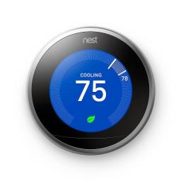 Nest Learning Thermostat 3rd Generation Smart Home with Wifi Remote Control Stainless Steel Professional Version
