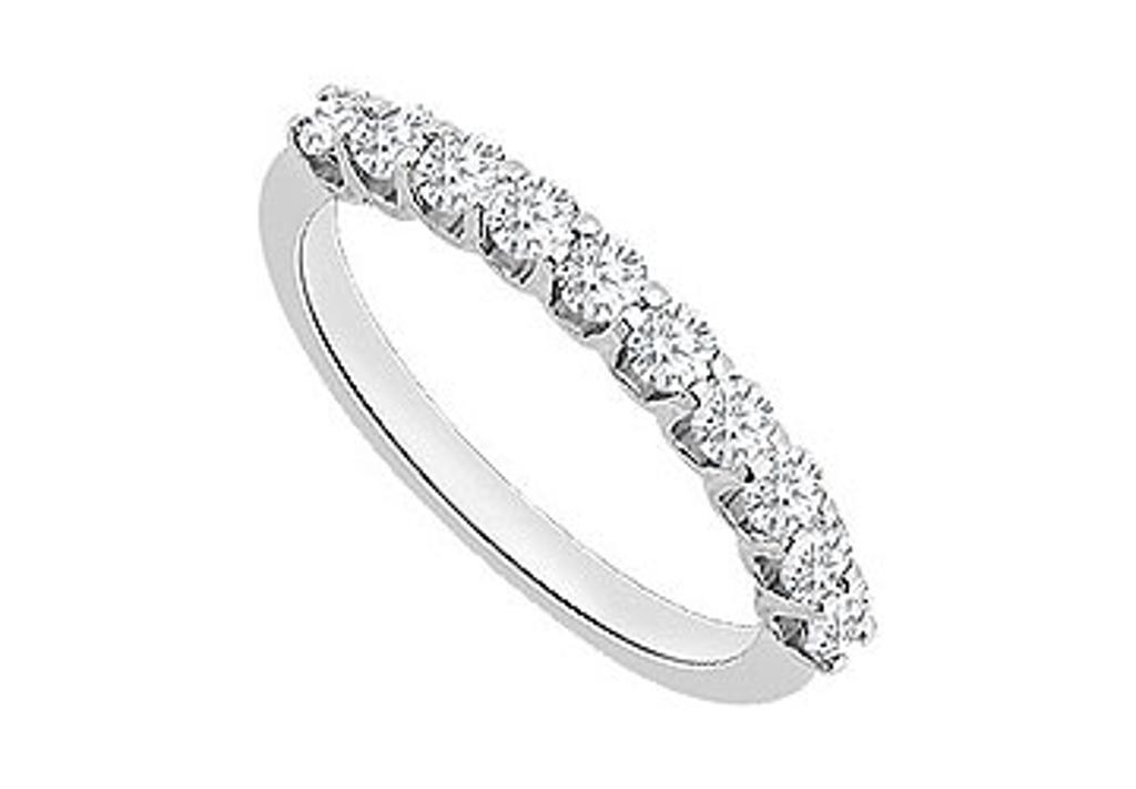 14K White Gold Diamond Wedding Ring with 0.50 Carat Diamonds