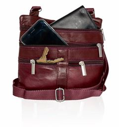 AFONiE  Leather Fashion CrossBody Bag