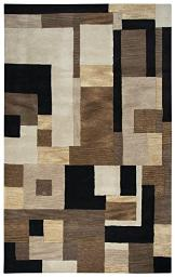 Rizzy Home Craft Collection Wool Area Rug, 8' x 10', Multi/Gray/Rust/Blue Block