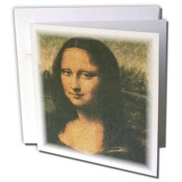 3dRose Mona Lisa - Greeting Cards, 6 x 6 inches, set of 12 (gc_34632_2)