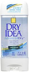 Dial 1327463 Dry Idea Unscented Clear Gel Anti-Perspirant Deodorant, 3oz Size (Pack of 6)