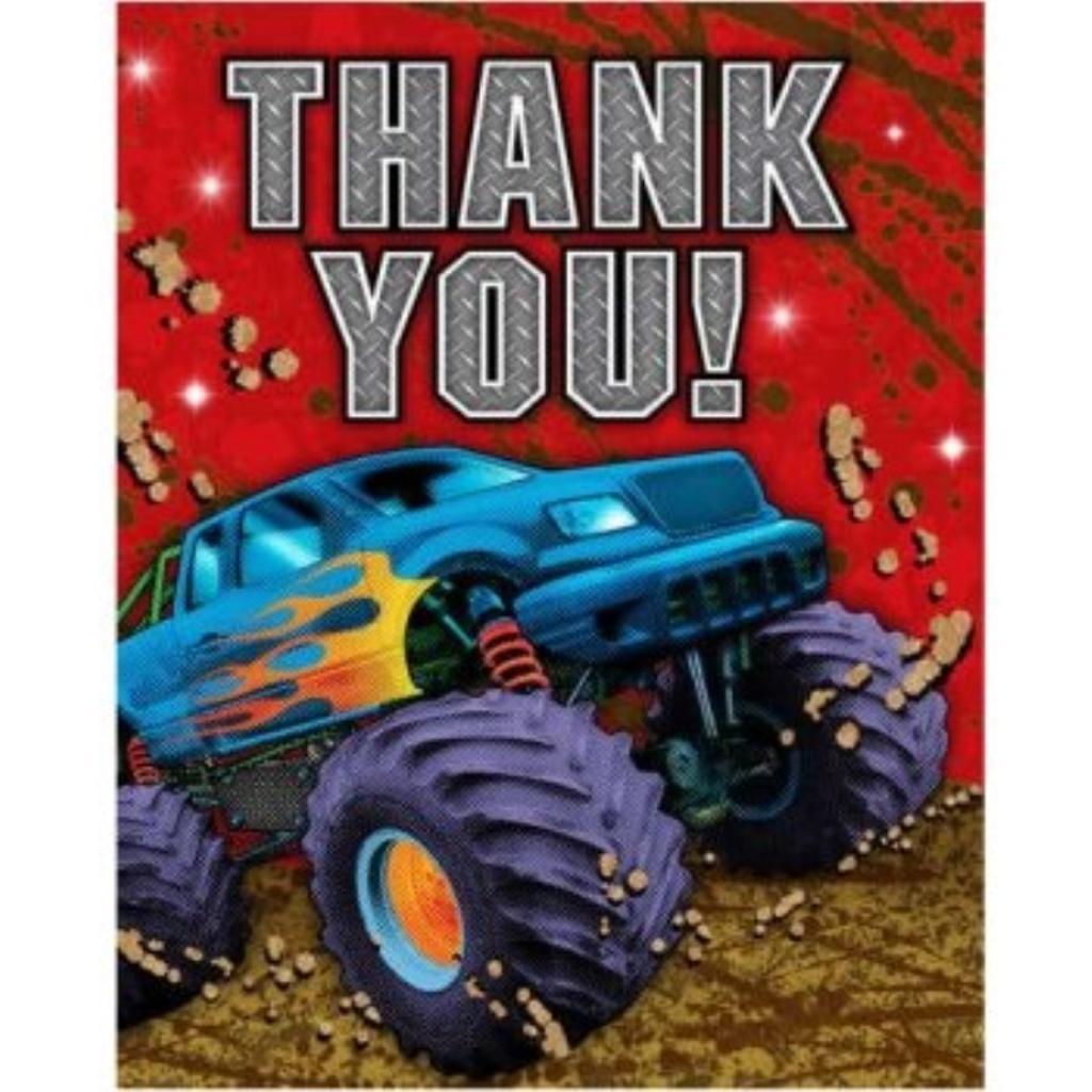 Mudslinger Monster Truck Thank You Cards 8 Per Pack