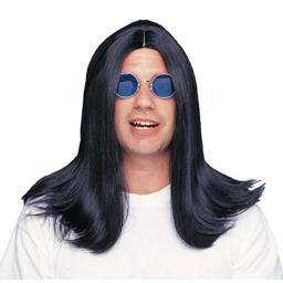 Costume Culture Men's Parted 18 Inch Wig Deluxe, Black, One Size