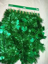 St. Patrick's Day 9 ft Garland (Solid Green)