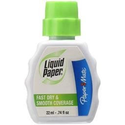 Paper Mate Liquid Paper Fast Dry Correction Fluid, 22 mL, 12 Count